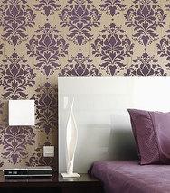 Damask Stencil Wild Berry - Reusable stencils just like wallpaper -DIY decor - $44.95