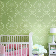 Stencil Simple Rhyme, Reusable stencil for DIY Nursery kids room decor - $37.95