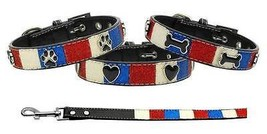 PATRIOTIC Ice Cream Dog Collar & Leash * Glittery 4th of July American T... - €9,65 EUR+