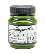 Jacquard Products Textile Color Fabric Paint 2.25-Ounce, Olive Green - $3.95