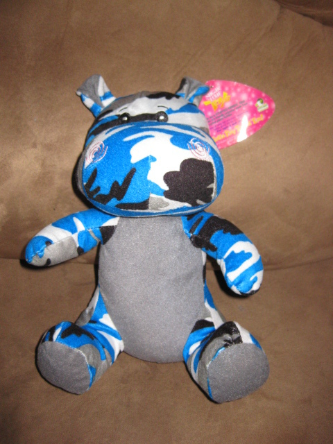 "Primary image for BLUE CAMO HIPPO Brand New Plush NWT Stuffed Animal With Tags 11"" SUGAR LOAF"