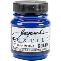 Jacquard Products Jacquard Textile Color Fabric Paint, 2.25-Ounce, Sapph... - $3.95