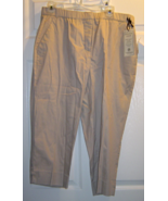 Women's Size 14 Versona Accessories Classic Fit Taupe Capri Pants NWT - $16.99