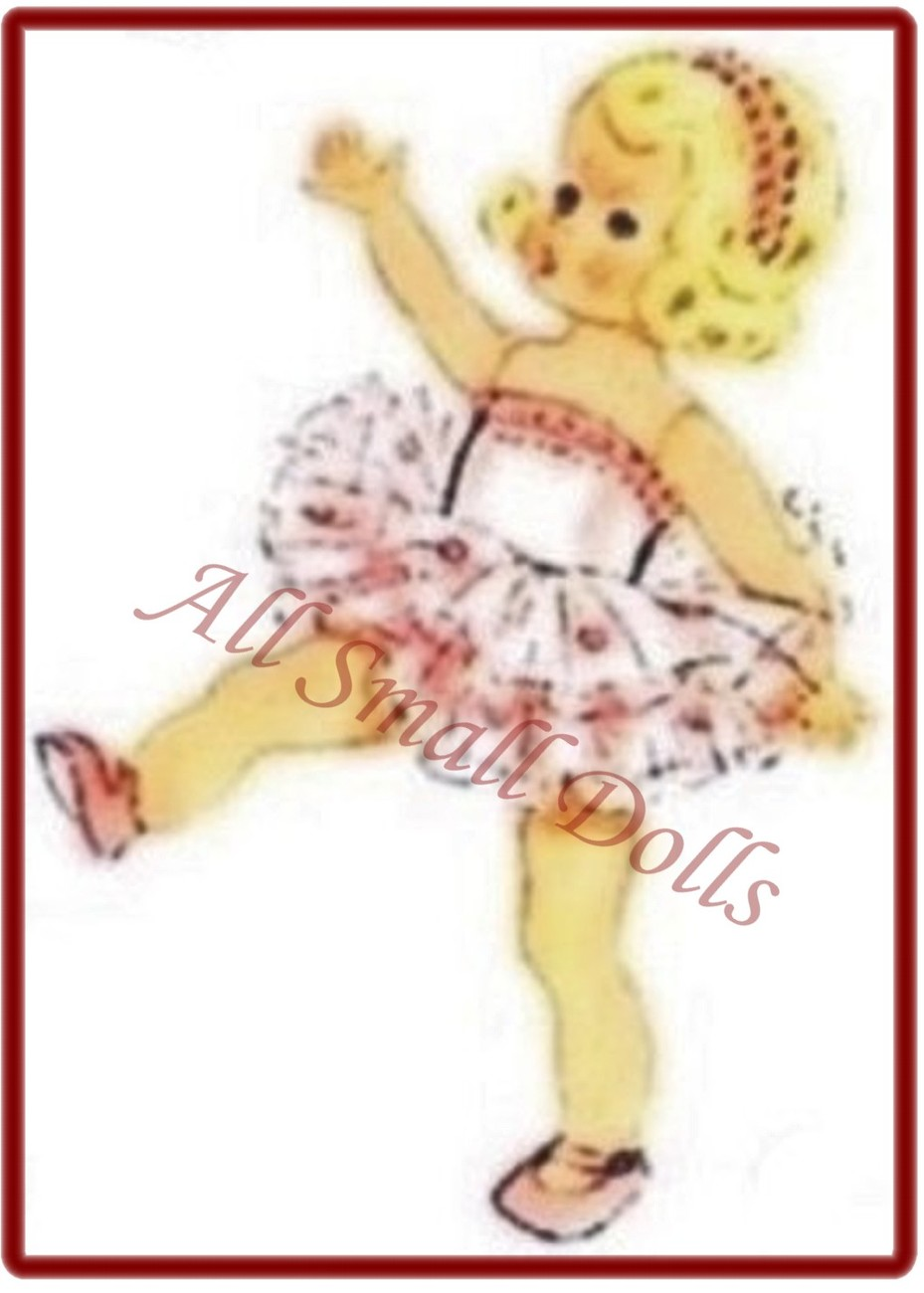"""Vintage Doll Clothing Pattern for 8"""" Dolls ~ No. 3"""