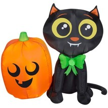 Airblown Inflatable-Cat and Pumpkin by Gemmy Industries  - $44.72