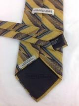 JHANE BARNES  100% Silk Woven Tie Gold Yellow Green Black  - $32.49
