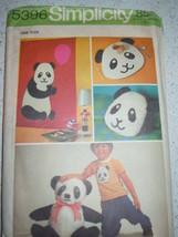 Vintage (1972) Simplicity Home Decor Panda Placemat Wall Hanging Toy Pat... - $3.99