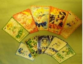 Sailor moon lot 10 (B) memo note card manga inner outer  - $15.00