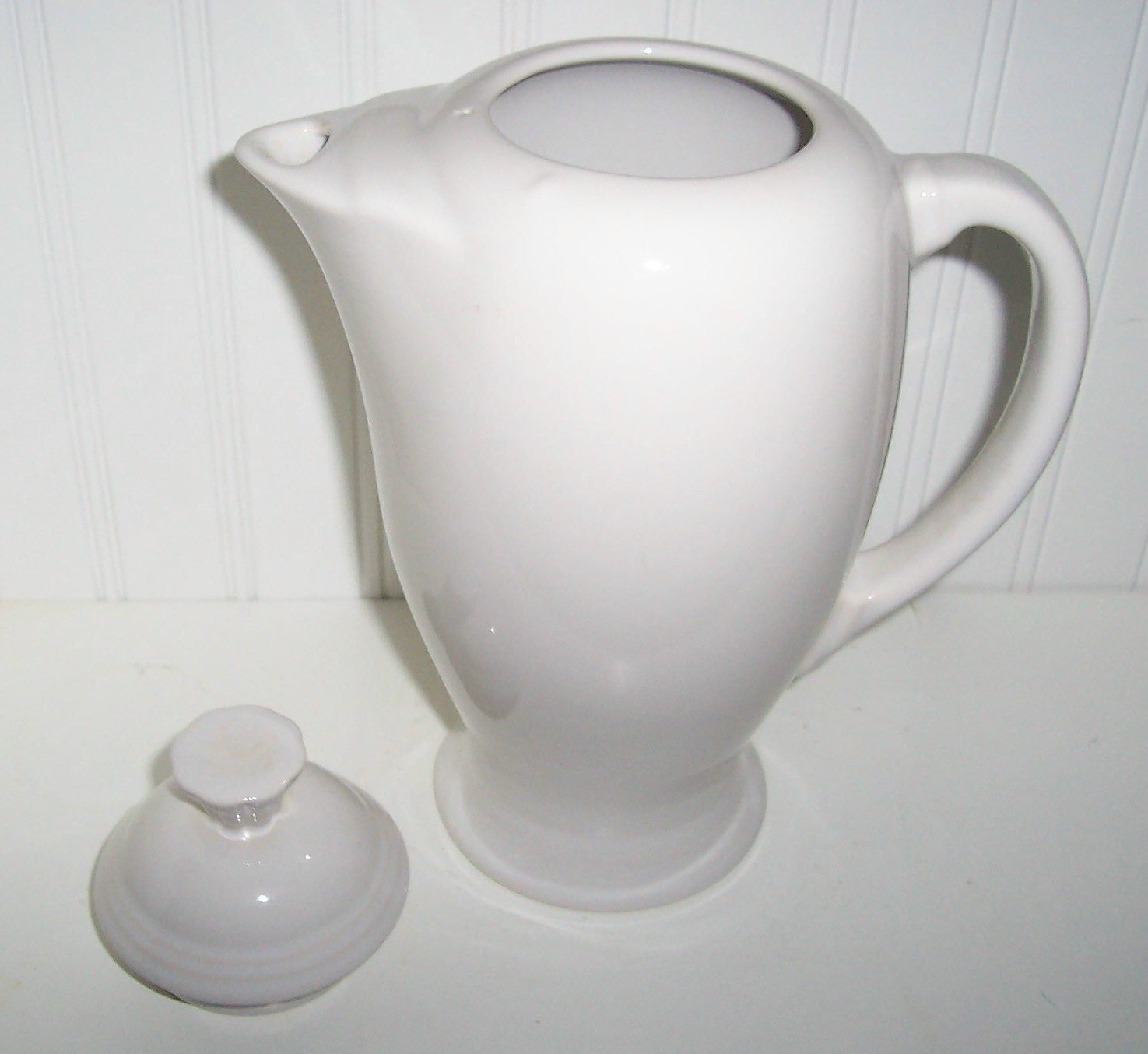 Fiesta/ Fiestaware White Coffee Pot /Retired