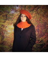 autumn hat and neckwarmer - $18.00