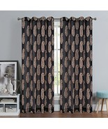Urbanest 54-inch by 96-inch Paisley Set of 2 Faux Linen Sheer Drapery Cu... - $29.69