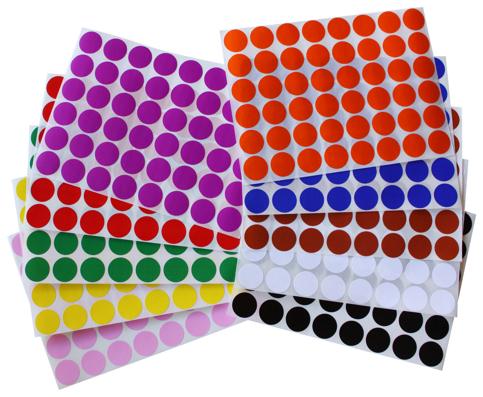 17mm 3 4 Inch Diameter Color Round Dot Stickers Small Sheets Labels 720 Pack Stickers