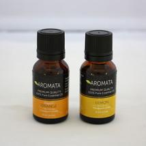 Pair Of 100% Natural Orange & Lemon Essential Oils Antioxidant Joyful Uplifting - $16.83