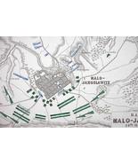 1848 Fine Quality Map - RUSSIA Maloyaroslavets ... - $17.82
