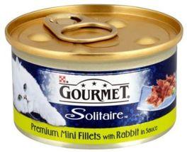 Gourmet Solitaire Wet Cat Food Premium Mini Fillets With Rabbit In Sauc... - $14.70