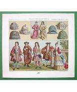 FRANCE Royalty Fashion 17th 18th Century - COLO... - $9.90