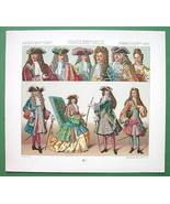 FRANCE Costume of Nobility King Louis XIV etc -... - $13.37