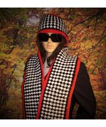 Houndstooth hat and scarf set - $25.00