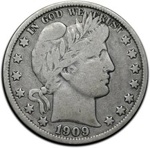 1909O Silver Barber Half Dollar 50¢ Coin Lot# A 378 image 1