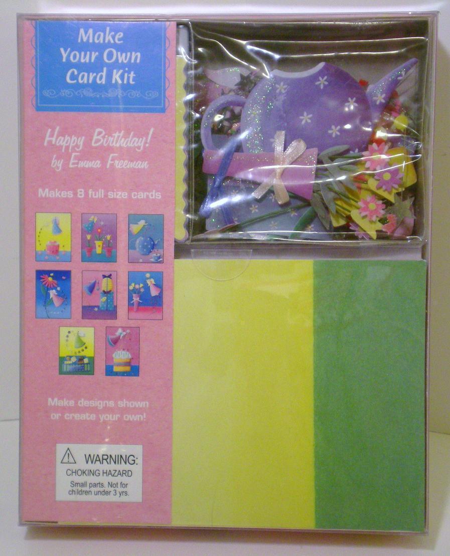 make your own card kit happy birthday emma freeman