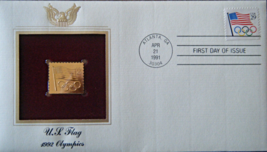 U.S. FLAG 1992 Olympics  FIRST DAY OF ISSUE STAMP: Apr. 21, 1991  - $8.50