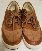 Polo Ralph Lauren ::RAMIRO:: Men's Leather Sneakers 12D Brown Casual Sho... - $30.00