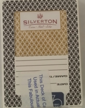 SILVERTON Casino Hotel Lodge Las Vegas Playing Cards, Brown, Used, Sealed - $4.95