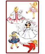 "Vintage Doll Clothing Pattern for 8"" Dolls ~ No. 3 - $7.99"