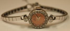 Vintage Omega 14K White Gold Diamond Pink Dial Watch Circa 1940s - $1,537.00