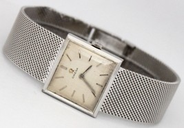 Vintage Omega 14K Solid White Gold Silver Dial Circa 1940s Watch - $1,700.00