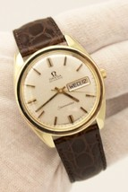 Vintage Omega Seamaster Day Date Gold Plated 37mm Circa 1970s Cal. 750 W... - $962.50