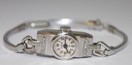 Ladies Vintage Elgin Platinum & Stainless Steel Diamond Watch Circa 1920 - $1,154.00