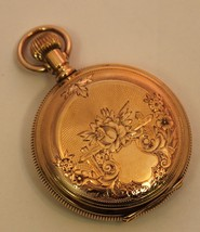 Vintage Elgin 14K Solid Yellow Gold 35mm Hunter Pocket-Watch 34 Grams 19... - $1,441.25