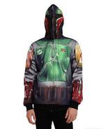 Trust Vendor Adult Bounty Hunter Character Zip Full Face Mask Hooded Hoo... - $39.99