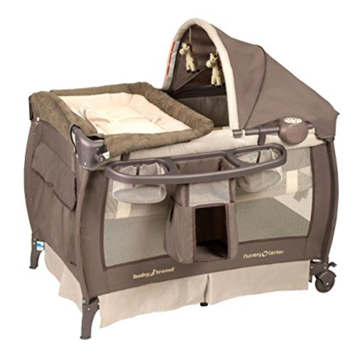 Baby Trend Deluxe Nursery Center Playard Bassinet Crib Pen With Canopy And Music