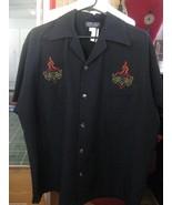 Johnny Suede rockabilly sacred heart dice button las vegas VLV bowling s... - $34.33