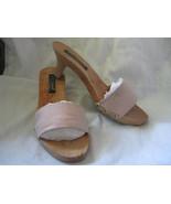 Betsey Johnson gingham wooden mules platform wedge sandals shoes VLV 6UK... - $18.49