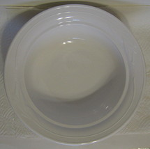 Corning Ceramic White Serving Bowl Wheat Pattern - $40.09