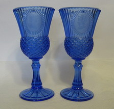 Avon Glass Candle Holders George and Martha Was... - $44.54