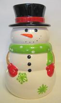 Large Snowman Top Hat Cookie Jar Ceramic - $54.44