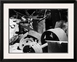 Gold Mine Equipment Black And White Industrial Design Photograph - $20.00