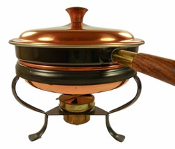 Vintage Copper Cookware Double Boiler Chafing D... - $49.75