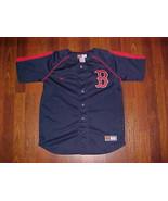 Nike MLB AL East Boston Red Sox Navy Blue Team Logo Boys Baseball Jersey M - $39.59