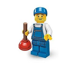 Takara Tomy Lego Minifigures Series 9 Plumber Caretaker Collectible Figure - $26.99