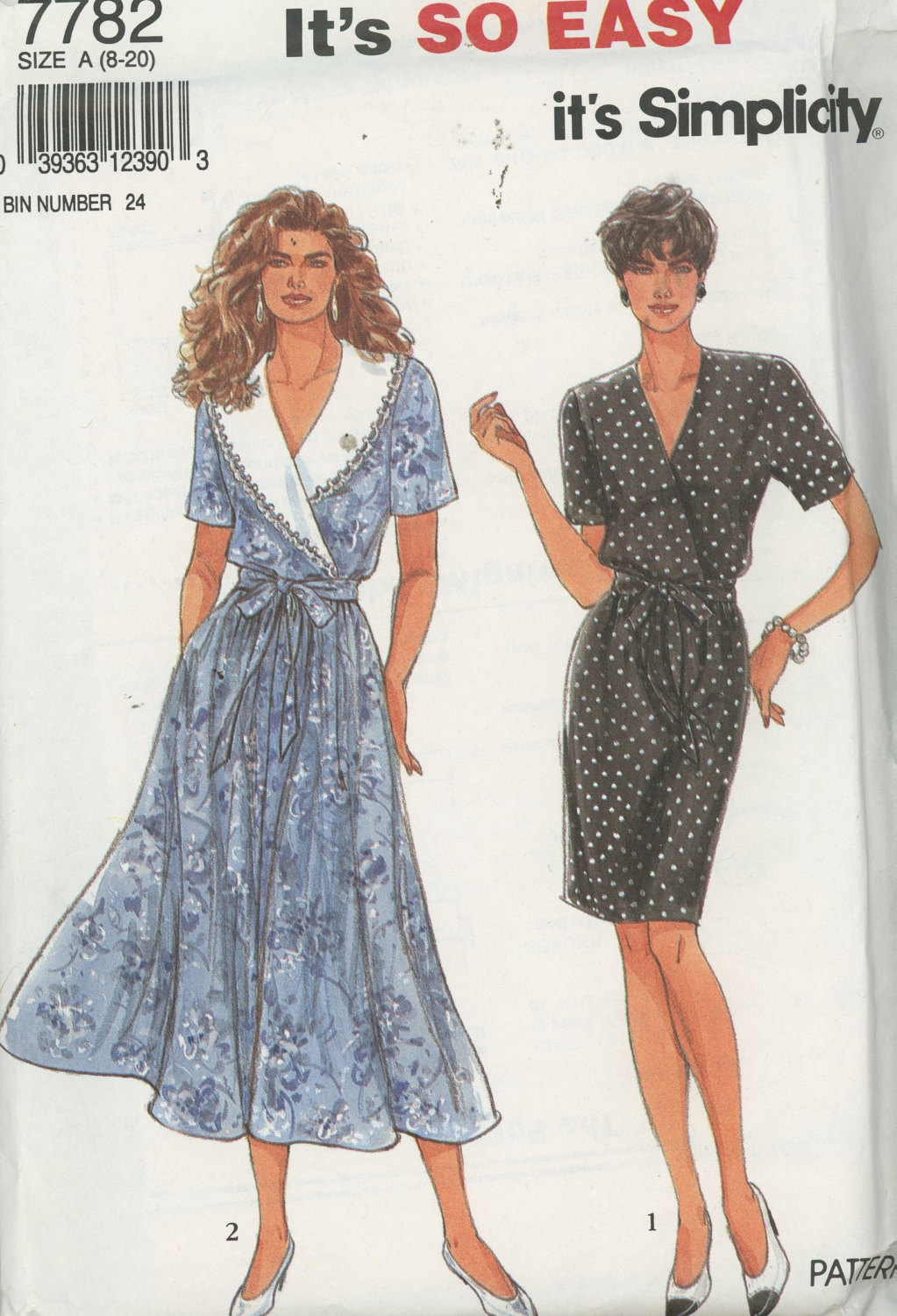 Simplicity 7782 Misses  Dress With or Without Collar UNCUT Size 8-20