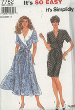 Simplicity 7782 Misses  Dress With or Without Collar UNCUT Size 8-20  - $3.00