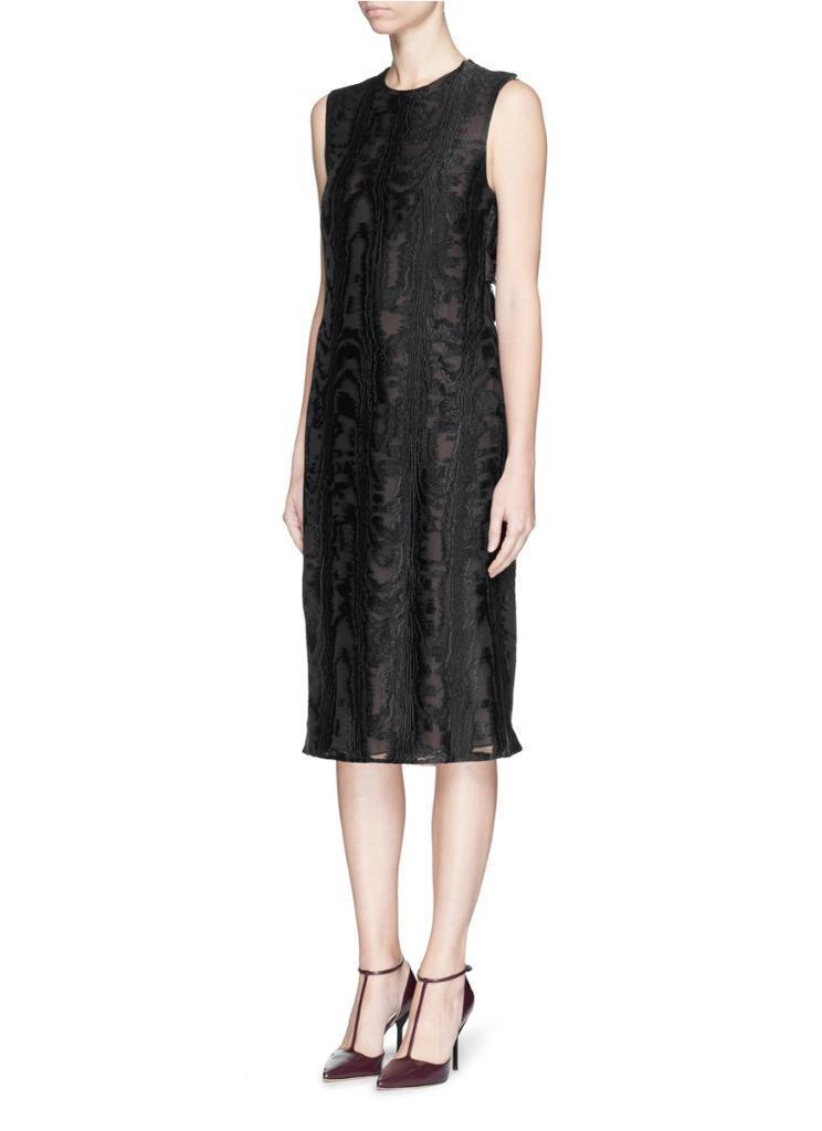 Jason Wu Dress Black Drape Cutout Back Silk Fil Coupé Dress 2 $1765
