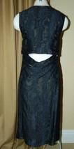 Jason Wu Dress Black Drape Cutout Back Silk Fil Coupé Dress 2 $1765 image 3