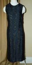 Jason Wu Dress Black Drape Cutout Back Silk Fil Coupé Dress 2 $1765 image 4