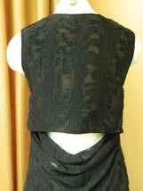 Jason Wu Dress Black Drape Cutout Back Silk Fil Coupé Dress 2 $1765 image 5
